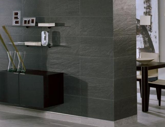 Colorker Pizarra Negro Black Rectified Porcelain Wall & Floor Tiles (595x295mm)