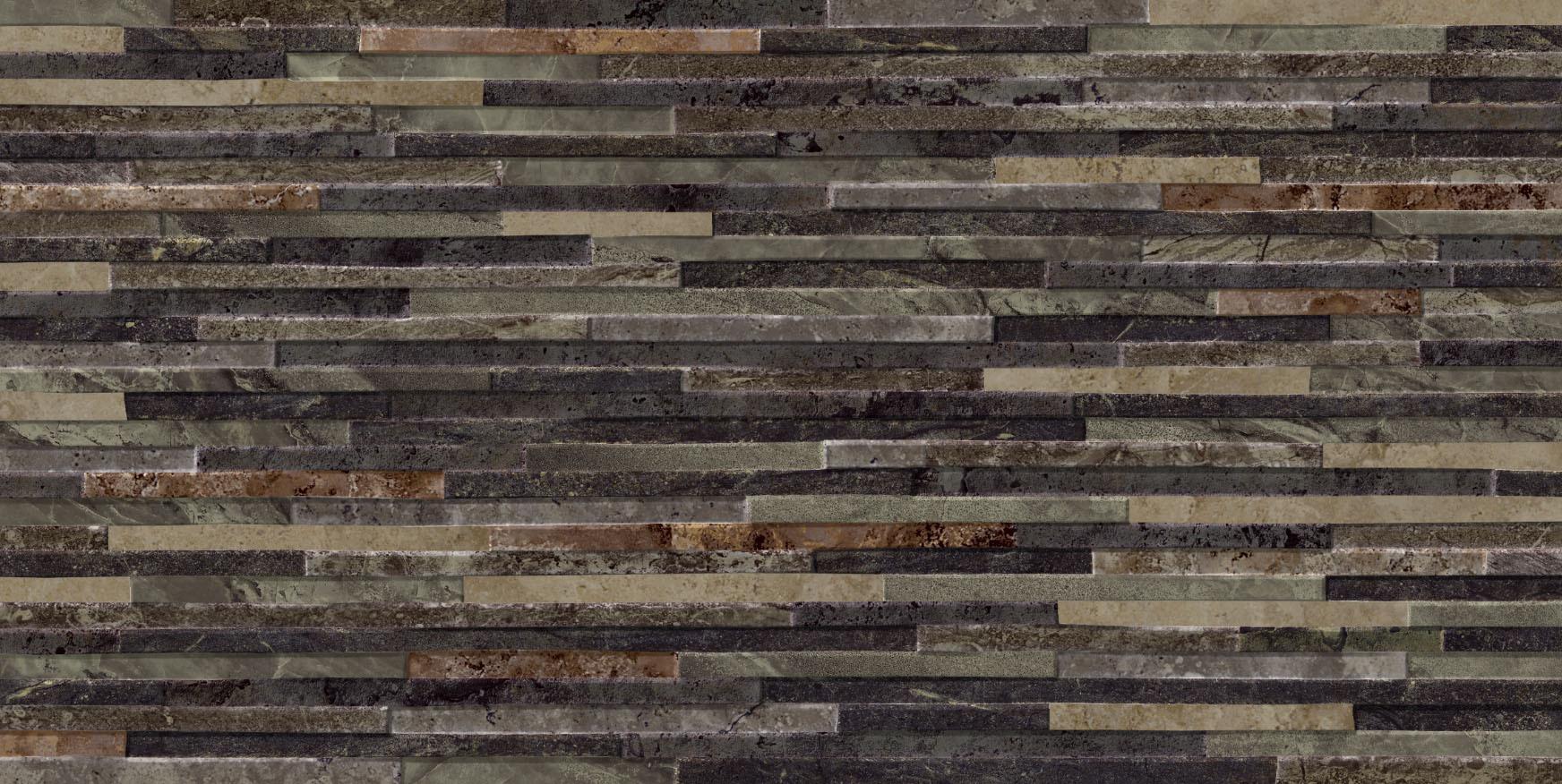 Azulev Direction Black Slate-Effect Ceramic Wall Tile (600x300mm)