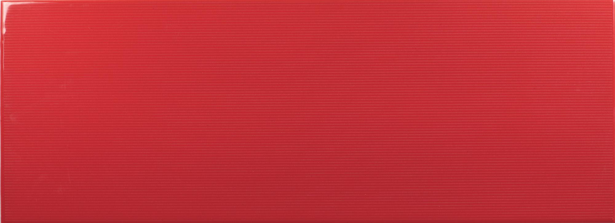Johnson VVD4A Vivid Red Gloss Brick Ceramic Wall Tile (400x150x10mm)