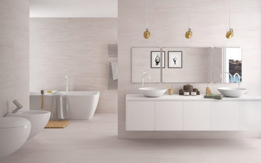 Reval Perla Series Tiles In Bathroom Display