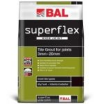 BAL Superflex Wide Joint Charcoal Tiling Grout For Walls 3.5kg – 00882