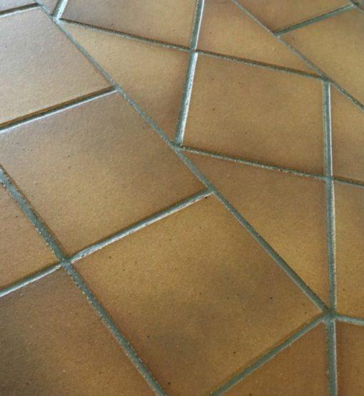 Gres De Aragon Flame Brown REX Quarry Tiles 149x149x12mm