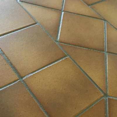 Gres De Aragon Flame Brown REX Quarry Tiles 149x149x12mm