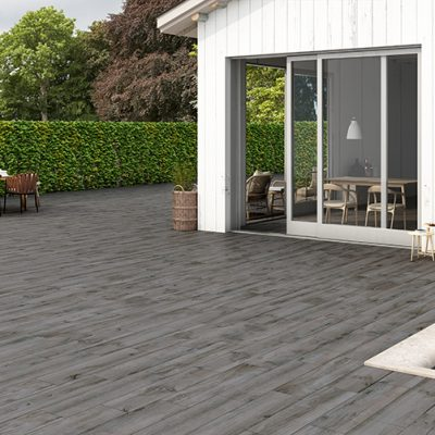 North Wind Wood Series Grey Floor Tile Example Use