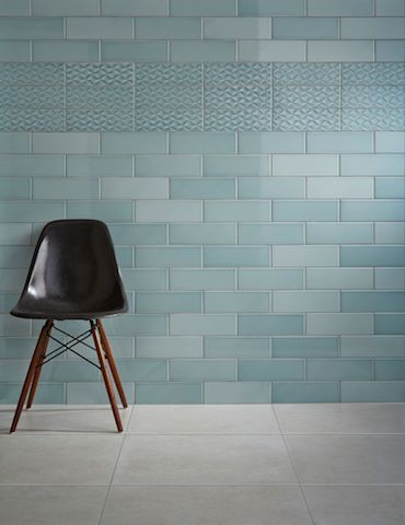 Johnson Tiles Savoy Leaf Gloss Room Display