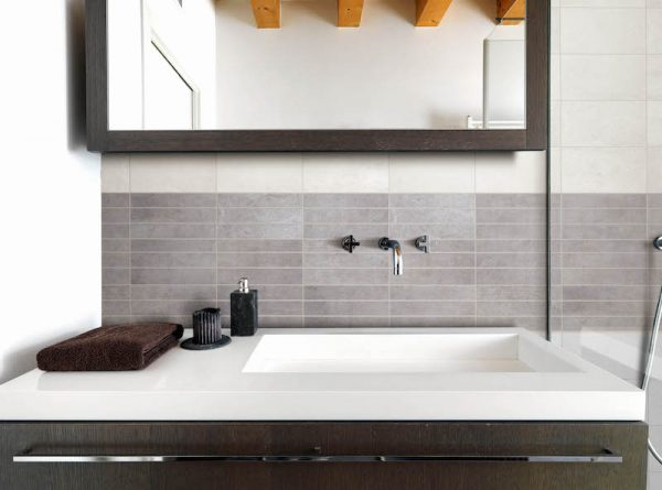 Urban Steel Line Ceramic Wall Tile 400x250x9.7mm Tiles