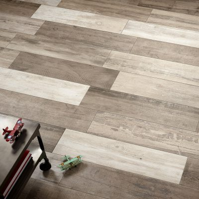 Woodland Series Walnut Wood Effect Porcelain Floor Tiles