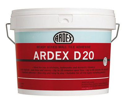 Ardex D20 Ready Mixed Wall Tile Adhesive  10ltr