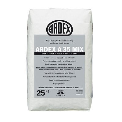 Ardex A35 Mix Rapid Dry Pre-Blended Screed & Repair Mortar  25kg