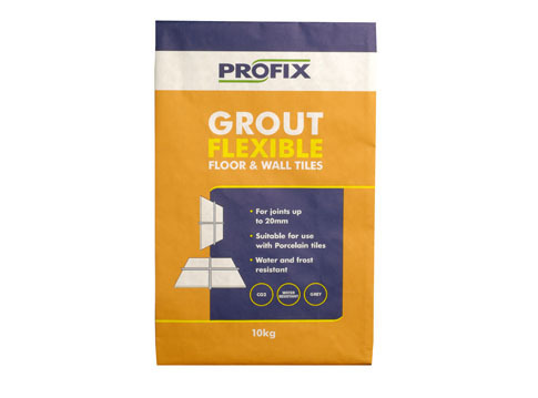BAL Profix Flexible Floor & Wall Tile Grout Grey  10kg