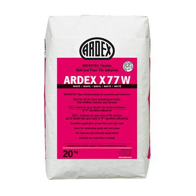 Ardex X77W Microtec Flex White Wall + Floor Tile Adhesive  20kg