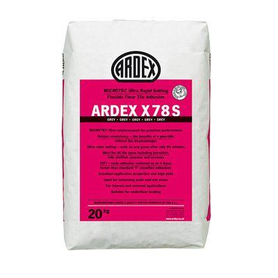 Ardex X78S Microtec Ultra Rapid Set Flexible Grey Floor Tile Adhesive  20kg