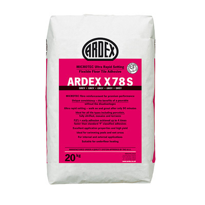 Ardex Microtec Ultra Rapid Set Flexible Grey Floor Tile