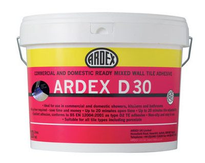 Ardex D30 Ready Mixed Wall Tile Adhesive  10ltr