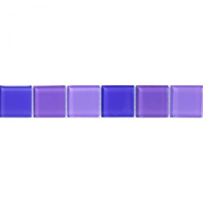 Johnsons Vitrose Damson Purple Glass Mosaic Border tiles