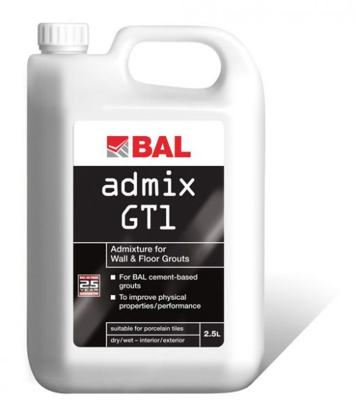 Bal GT1 Grout Admixture for Wall and Floor Adhesives 2.5ltr