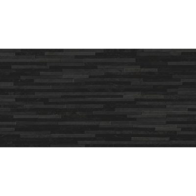 Azulev Direction Black Slate-Effect Ceramic Wall Tile