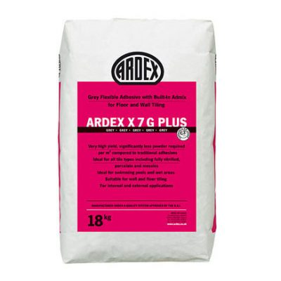 Ardex X7G Plus Grey Flexible Tile Adhesive  18kg