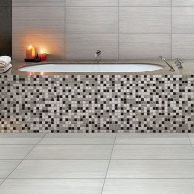 Treviso Prima E-Stone White Porcelain Wall & Floor Tiles in bathroom