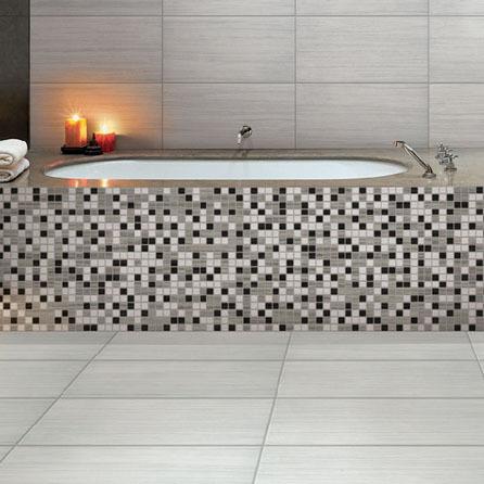 Treviso Prima E-Stone White Porcelain Wall & Floor Tiles in bathroom