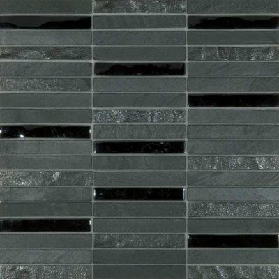 Skyline Marble Glass Mix Black tiles