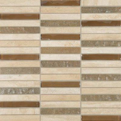 Skyline Marble Glass Mix Cream tiles