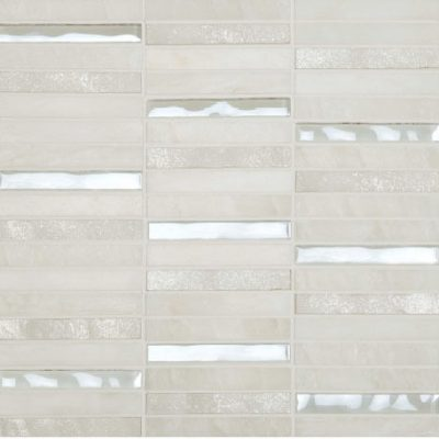 Skyline Marble Glass Mix White tiles