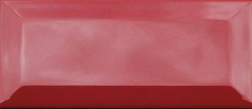 Johnson Red BVBR4A Bevel Brick Gloss Ceramic Wall Tile (200x100x7.5mm)