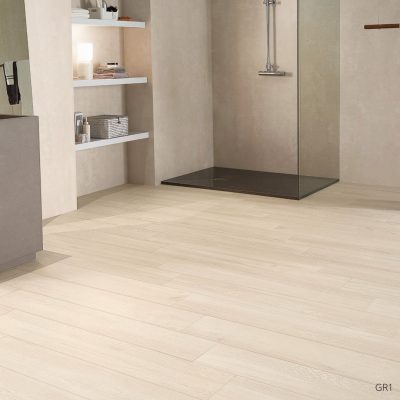 Grove Series Wood Effect White Porcelain Floor Tiles