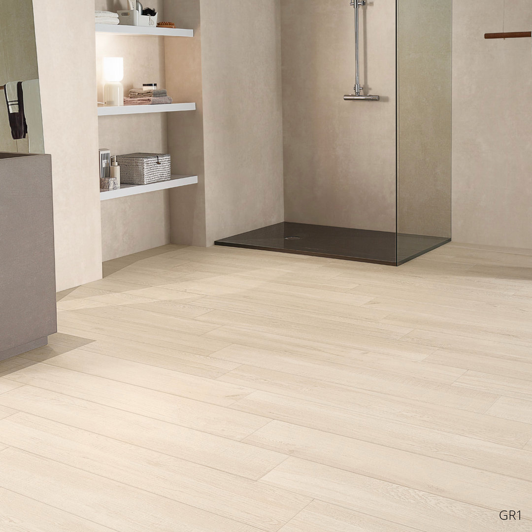 Wood Effect Porcelain Floor Tiles >> Grove Series Wood Effect White Porcelain Floor Tiles 1200x200mm