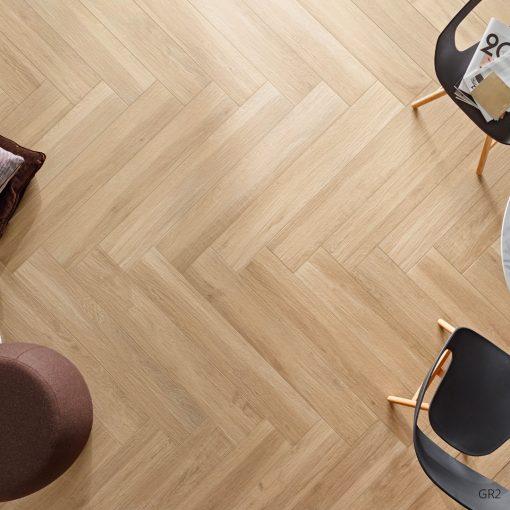 Grove Series Wood Effect Beige Porcelain Floor Tiles