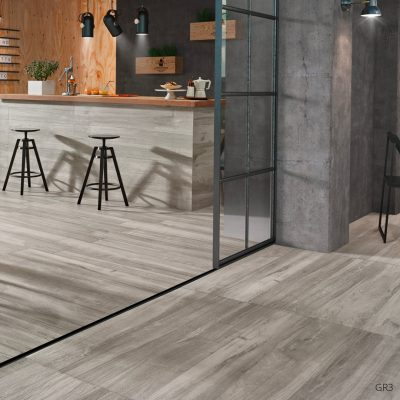 Grove Series Wood Effect Grey Porcelain Floor Tiles