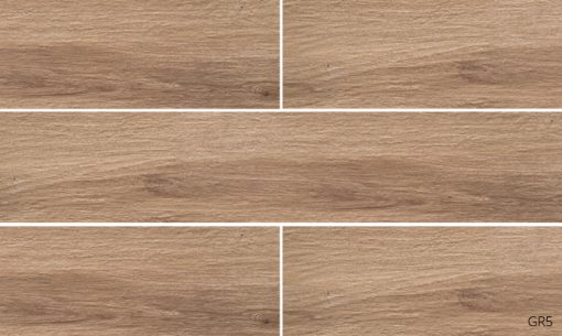 Grove Series Wood Effect Light Brown Porcelain Floor Tiles