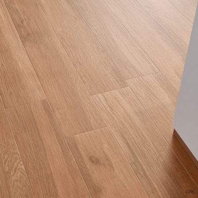 Grove Series Wood Effect Brown Oak Porcelain Floor Tiles