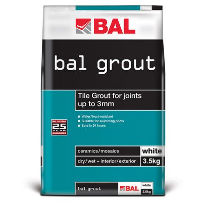Bal White Tiling Grout For Walls 3.5kg