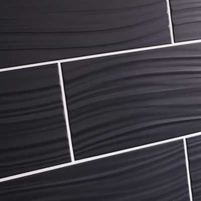 Johnson Wave Charcoal Matt Brick Ceramic Wall Tile