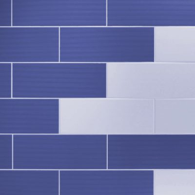 Johnson Vivid Blue Gloss Brick Ceramic Wall Tile
