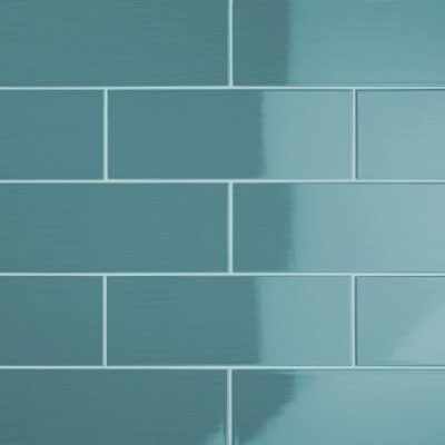 Johnson Vivid Teal Gloss Brick Ceramic Wall Tile