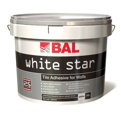 Bal White Star Ready Mixed Tiling Adhesive 10ltr