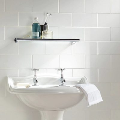 Johnson Prismatics White Ceramic Satin Wall Tile