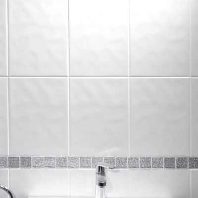 Johnson Polar Series Alpine White Bumpy Gloss Ceramic Wall Tile