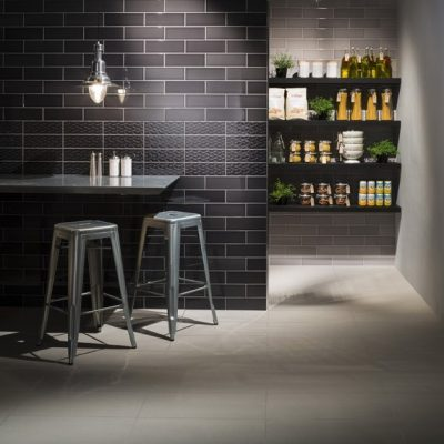 Johnson Savoy Brick Noir Gloss Ceramic Wall Tile