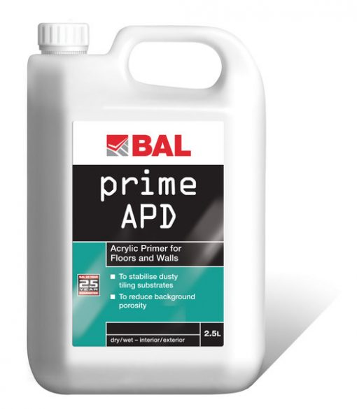 Bal Acrylic Primer for Walls & Floors 2.5ltr