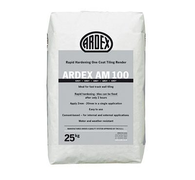 Ardex AM 100 Rapid Hardening One Coat Tiling Render  25kg