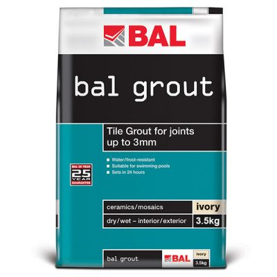 Bal Ivory Tiling Grout For Walls 3.5kg