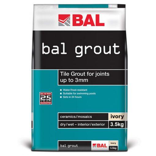 Bal Ivory Tiling Grout For Walls 3.5kg