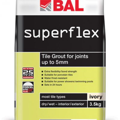Bal Superflex Ivory Tiling Grout For Walls 3.5kg