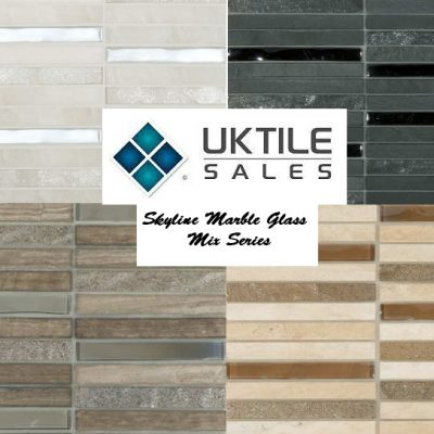 CR+ Skyline Marble Glass Mix Mosaic Series 305x305x8mm