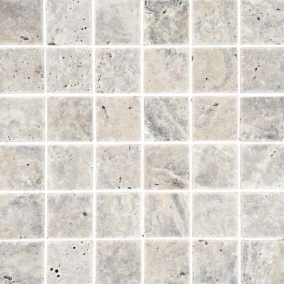 Johnson Natural Mosaic Series SMST1A Silver Travertine Square 305x305x10mm