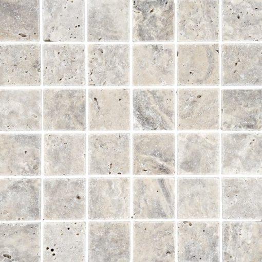 Johnson Natural Mosaic Series SMST1A Silver Travertine Square 305x305x10mm